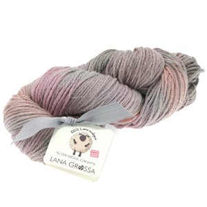 Lana Grossa SLOW WOOL CANAPA HAND DYED | 106-grège/pastellrosa/taupe